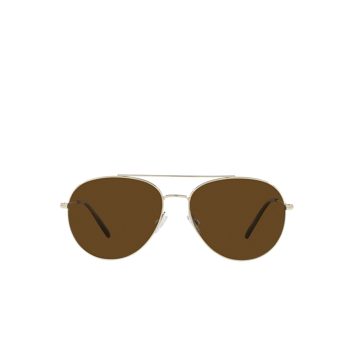 Oliver Peoples® Aviator Sunglasses: Airdale OV1286S color Soft Gold 503557 - front view.