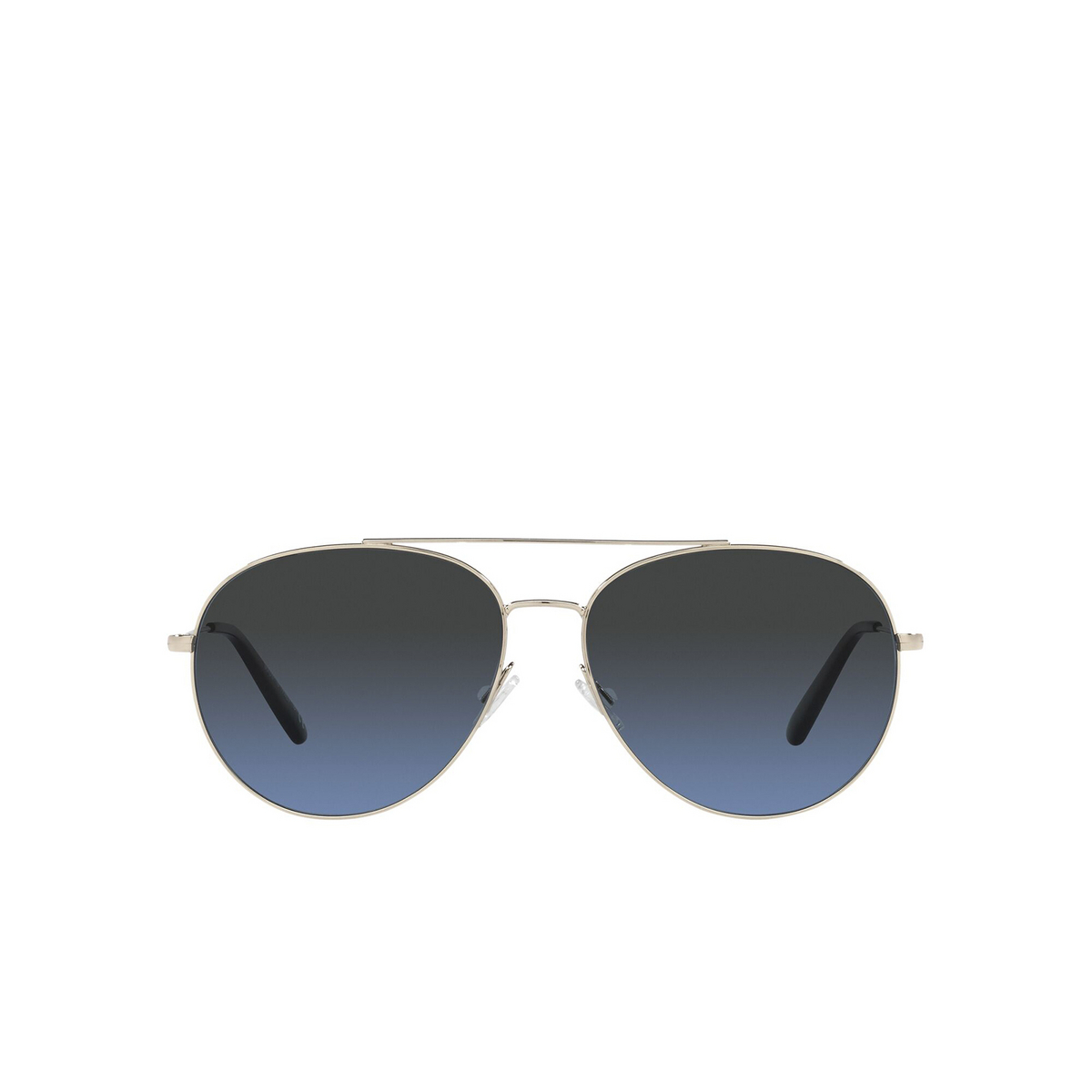 Oliver Peoples® Aviator Sunglasses: Airdale OV1286S color Soft Gold 5035P4 - front view.