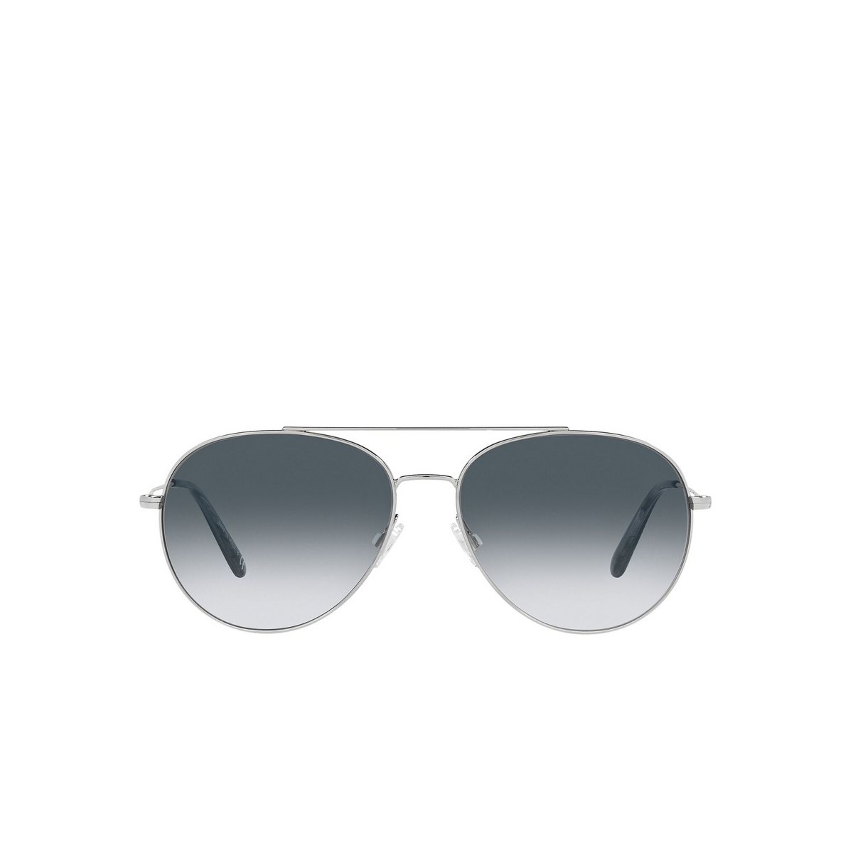 Oliver Peoples® Aviator Sunglasses: Airdale OV1286S color Silver 50363F - front view.