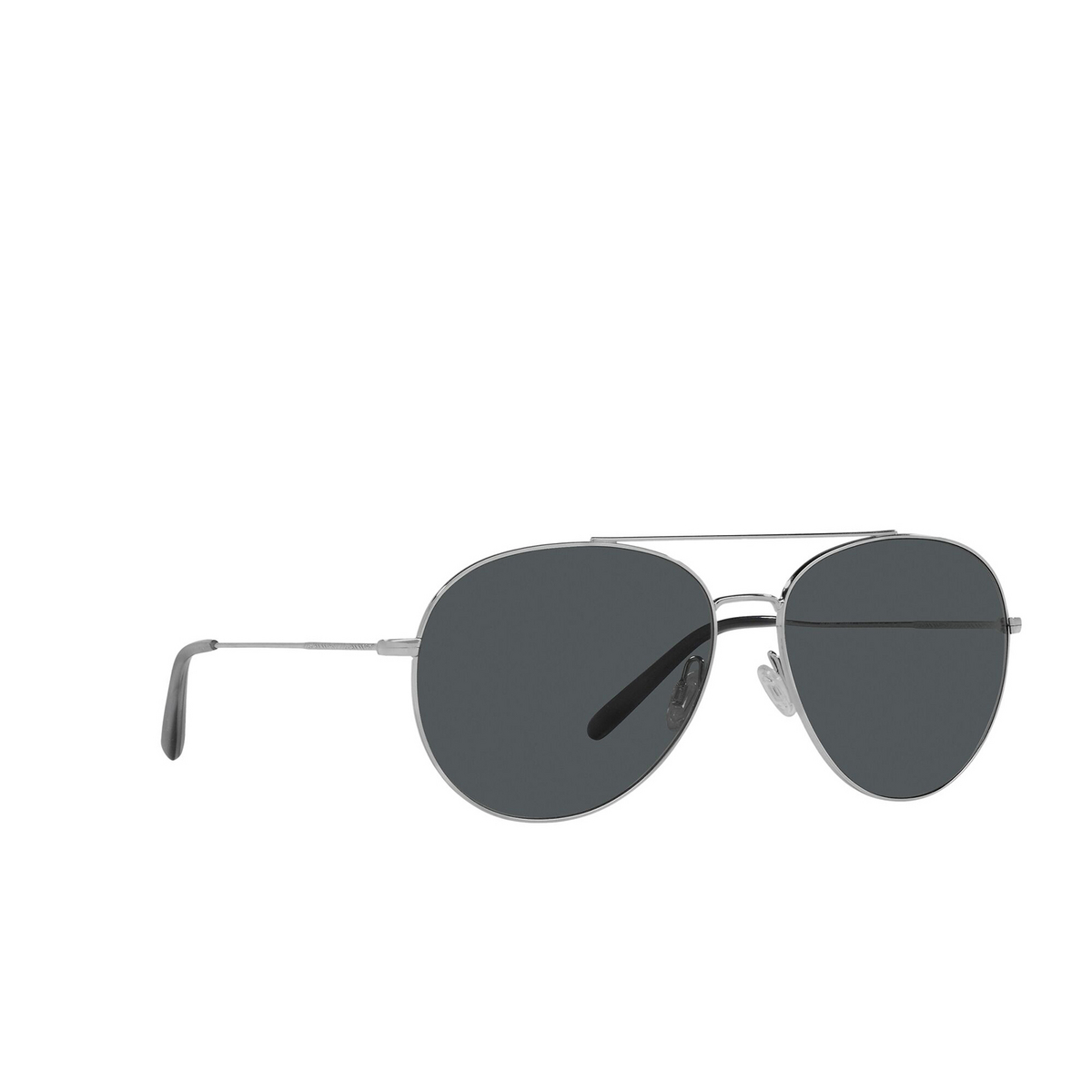 Oliver Peoples® Aviator Sunglasses: Airdale OV1286S color Silver 5036P2 - three-quarters view.