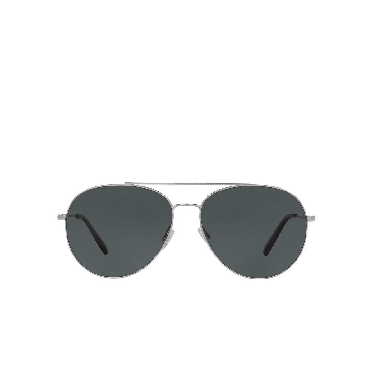 Oliver Peoples® Aviator Sunglasses: Airdale OV1286S color Silver 5036P2 - front view.