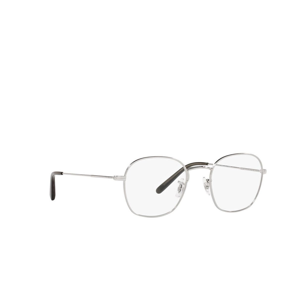 Oliver Peoples® Round Eyeglasses: Allinger OV1284 color Silver 5036 - three-quarters view.