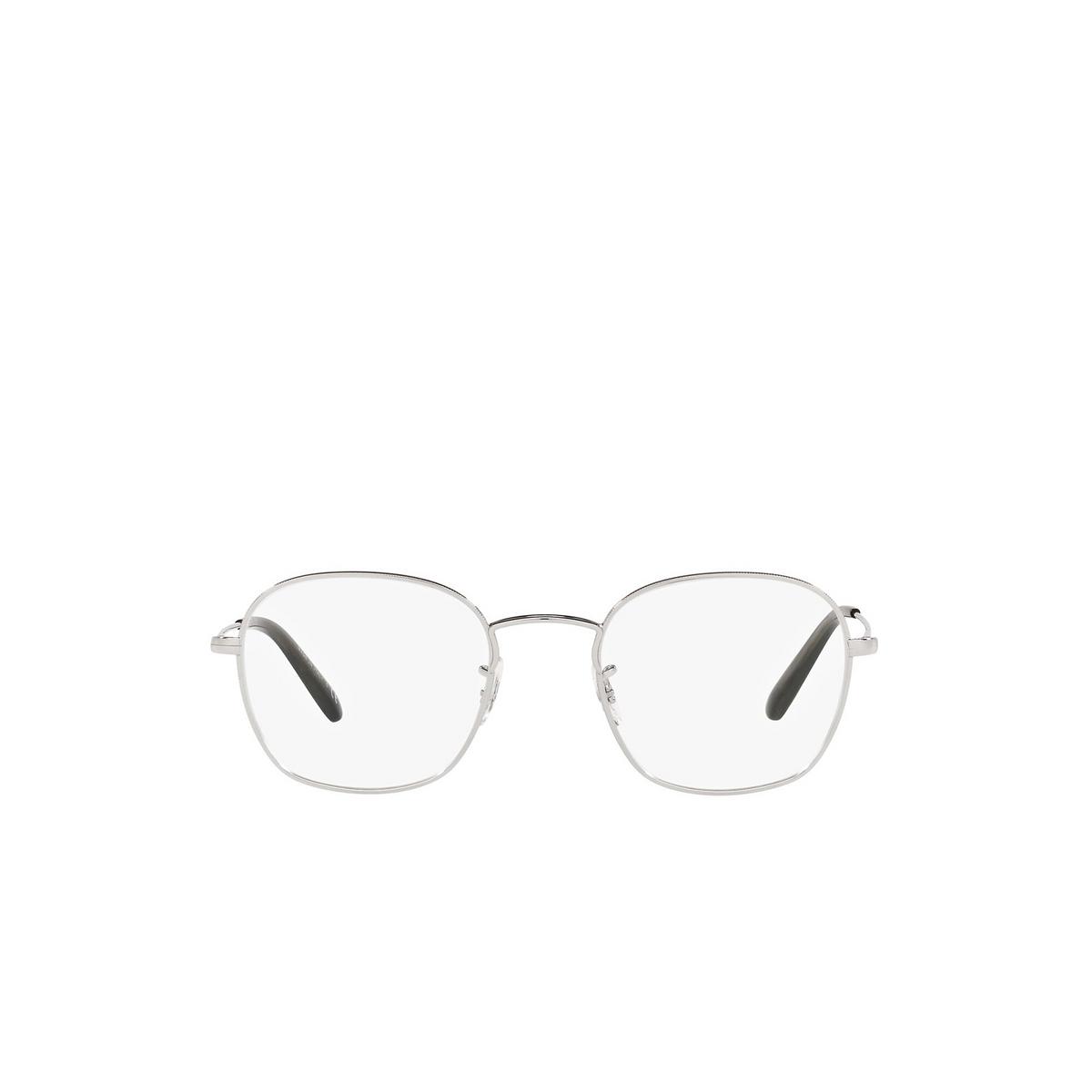 Oliver Peoples® Round Eyeglasses: Allinger OV1284 color Silver 5036 - front view.