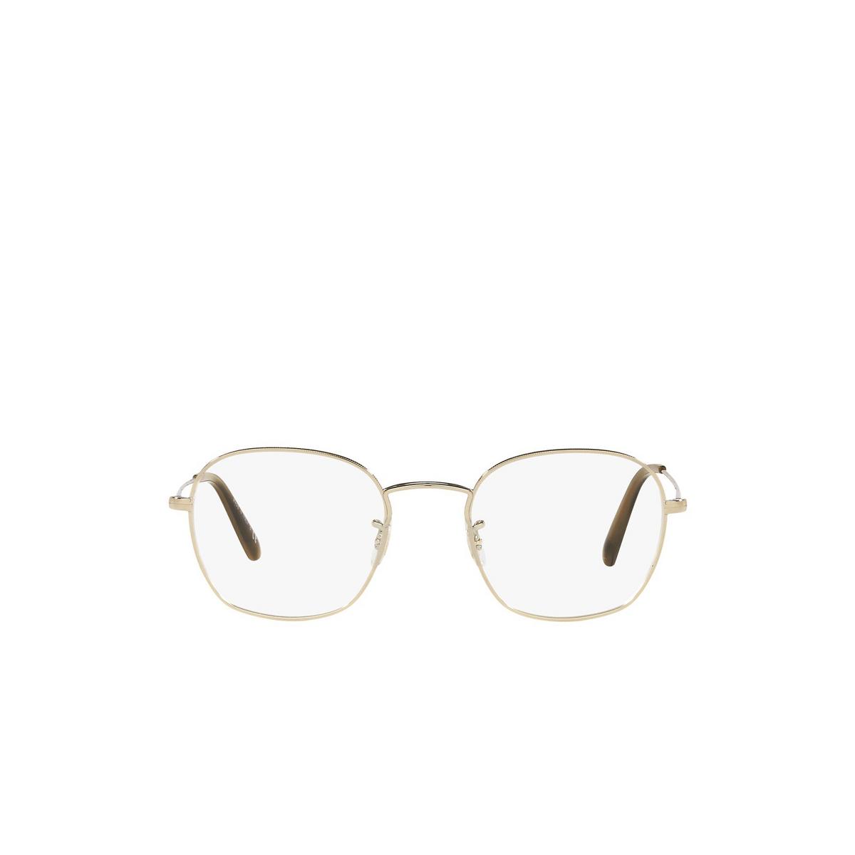 Oliver Peoples® Round Eyeglasses: Allinger OV1284 color Gold 5145 - front view.