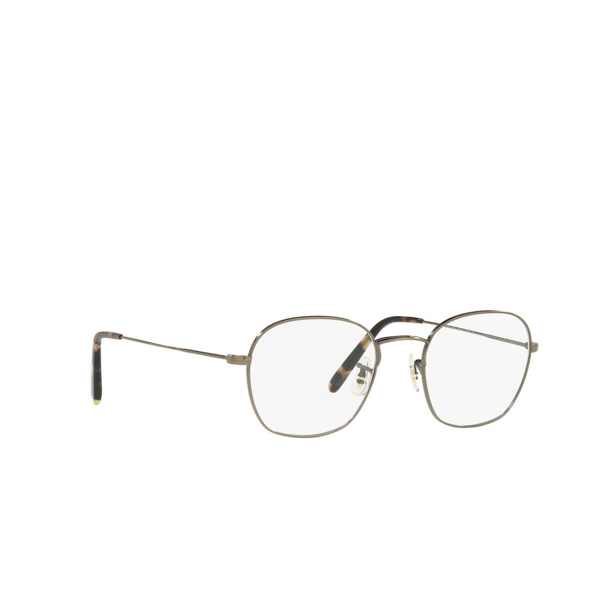Oliver Peoples® Round Eyeglasses: Allinger OV1284 color Antique Gold 5284 - three-quarters view.