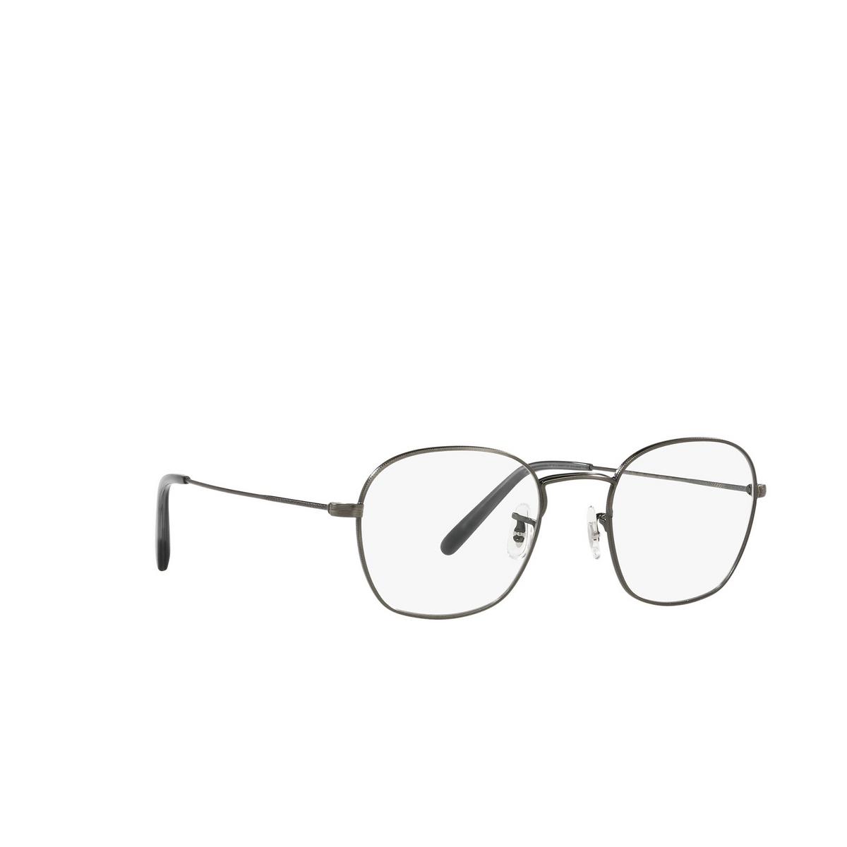 Oliver Peoples® Round Eyeglasses: Allinger OV1284 color Antique Pewter 5289 - three-quarters view.