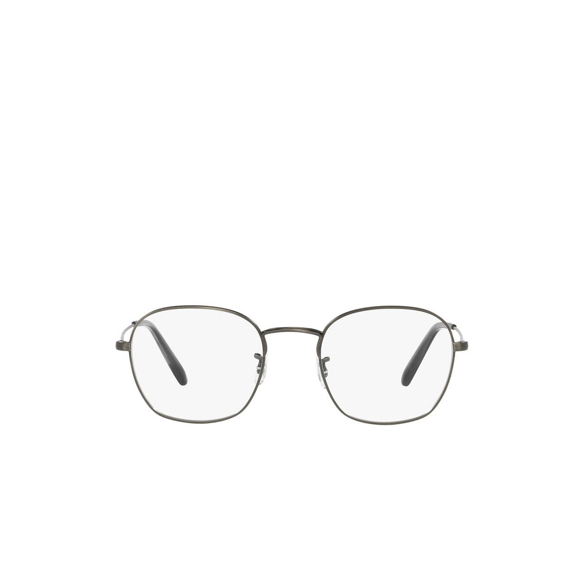 Oliver Peoples® Round Eyeglasses: Allinger OV1284 color Antique Pewter 5289 - front view.
