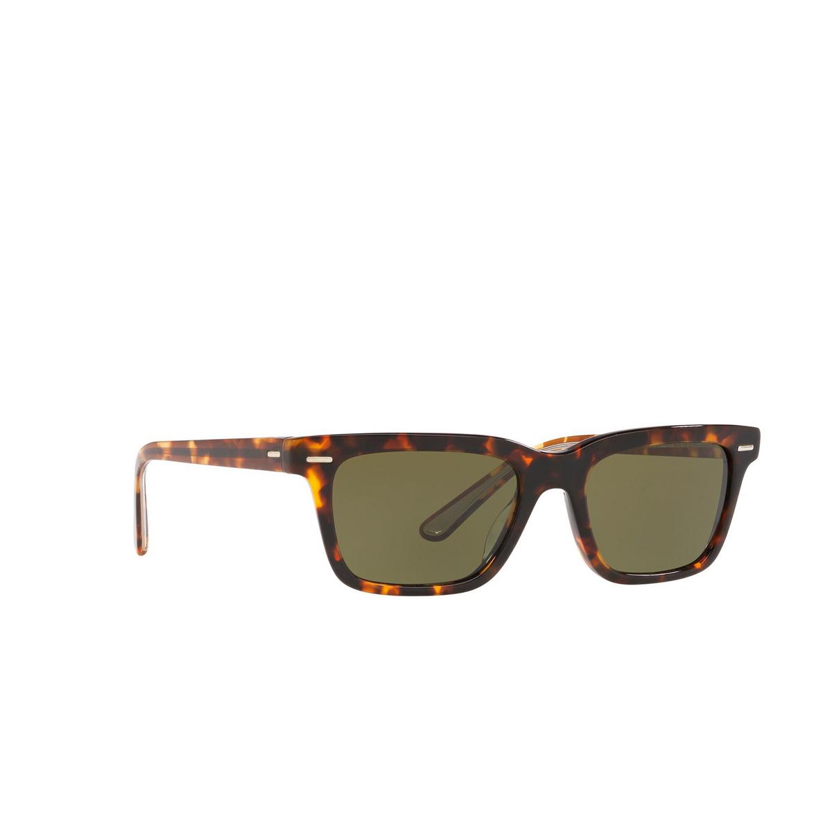 Oliver Peoples® Square Sunglasses: Ba Cc OV5388SU color Whiskey Tortoise 166352 - three-quarters view.