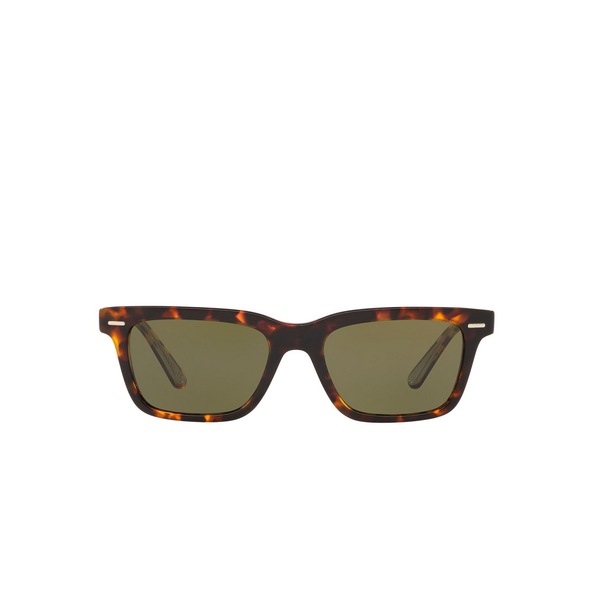 Oliver Peoples® Square Sunglasses: Ba Cc OV5388SU color Whiskey Tortoise 166352 - front view.
