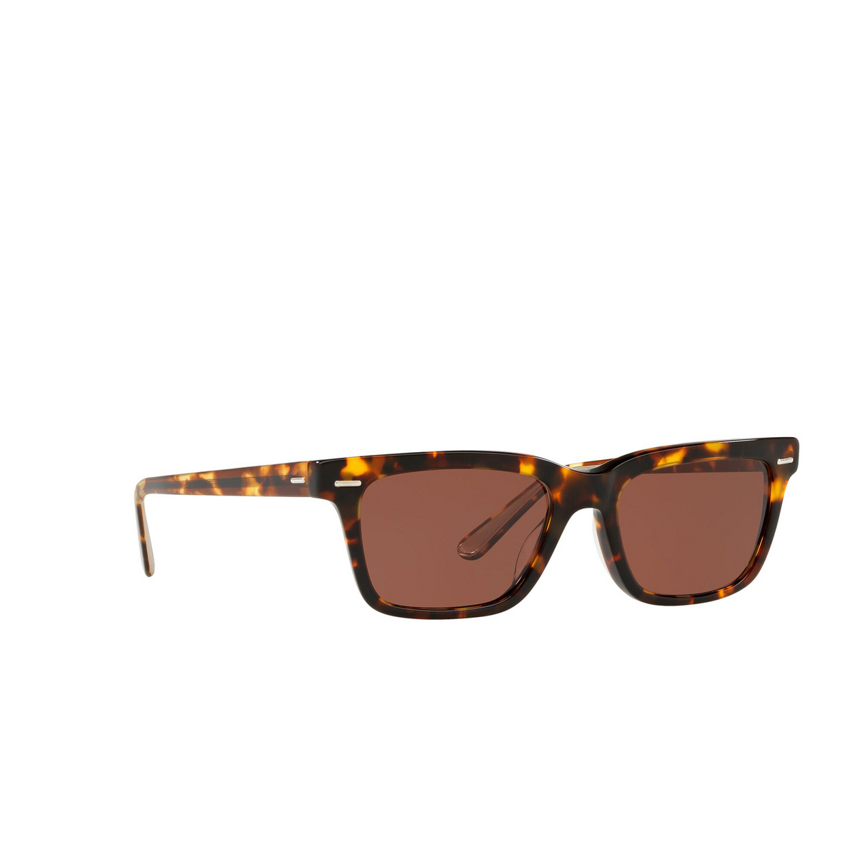 Oliver Peoples® Square Sunglasses: Ba Cc OV5388SU color Whiskey Tortoise 1663C5 - three-quarters view.