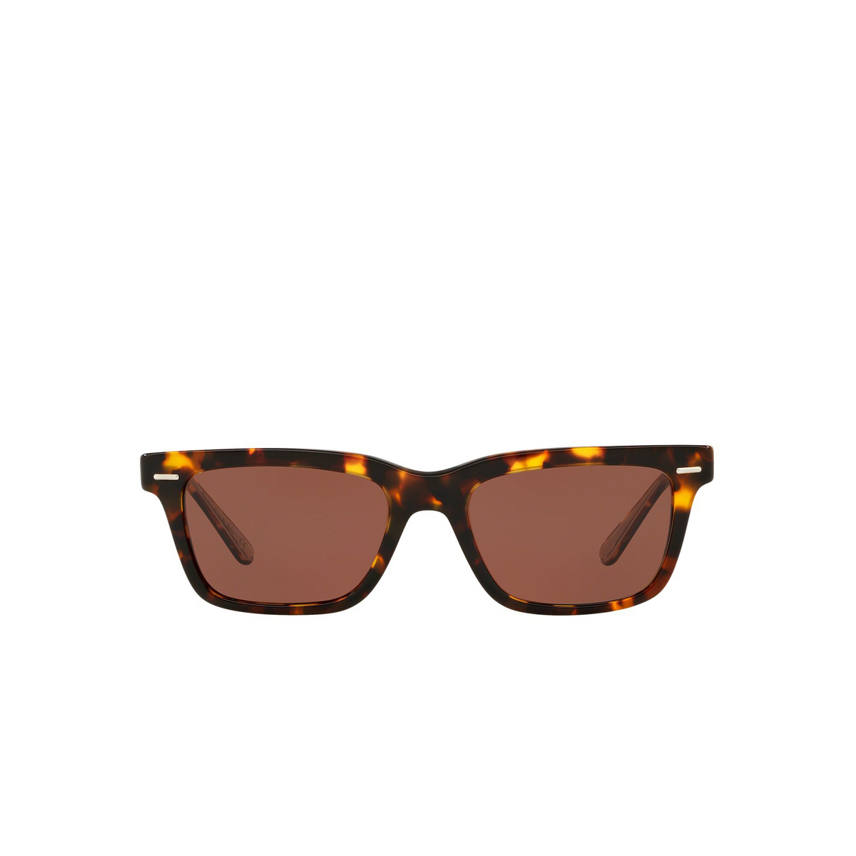Oliver Peoples® Square Sunglasses: Ba Cc OV5388SU color Whiskey Tortoise 1663C5 - front view.