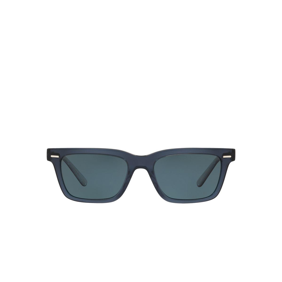 Oliver Peoples® Square Sunglasses: Ba Cc OV5388SU color Vivid Blue 16643R - front view.