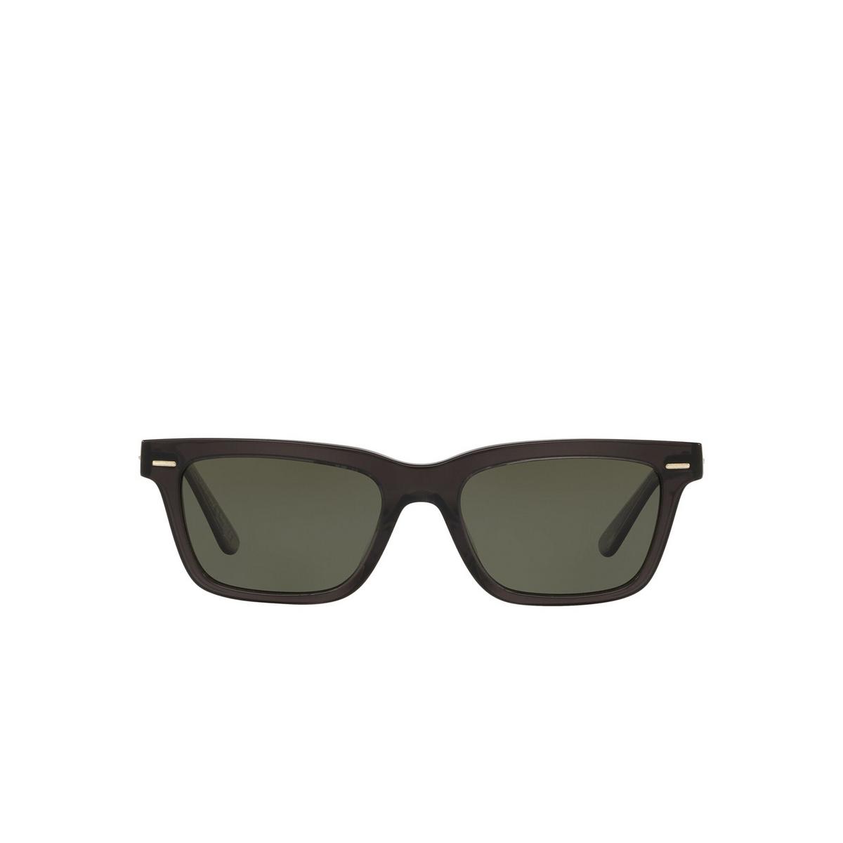 Oliver Peoples® Square Sunglasses: Ba Cc OV5388SU color Vivid Dark Grey 1665P1 - front view.