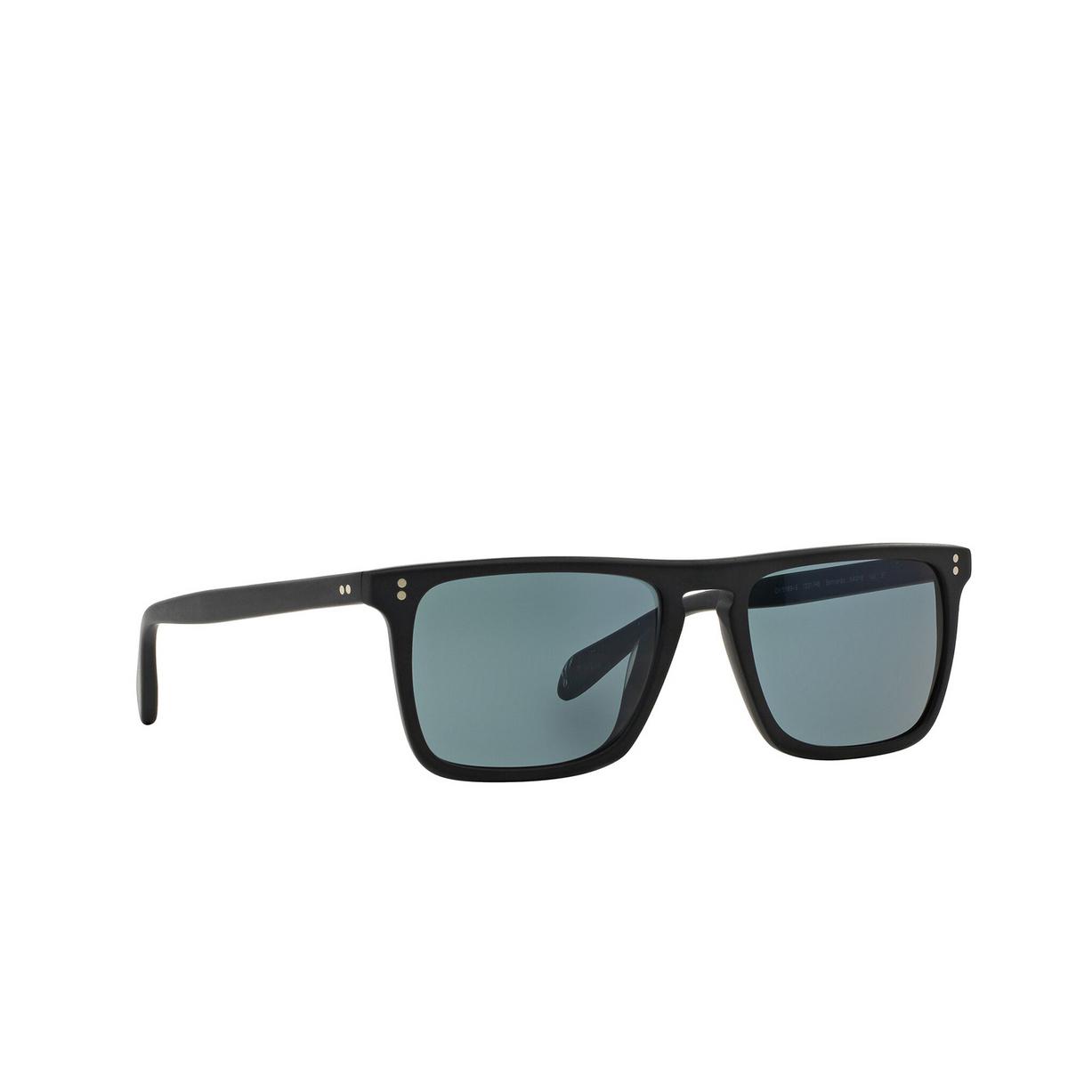 Oliver Peoples® Square Sunglasses: Bernardo OV5189S color Semi Matte Black 1031R8 - three-quarters view.