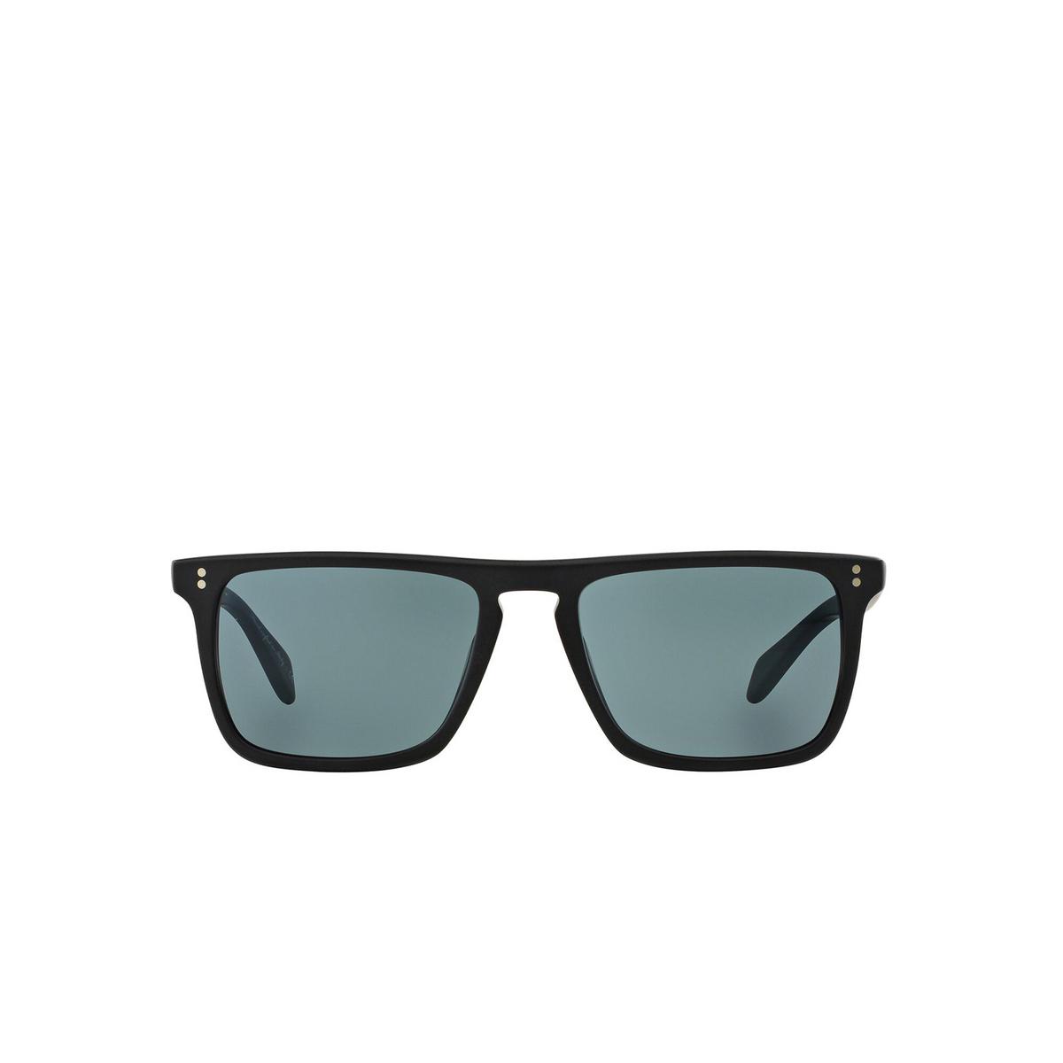 Oliver Peoples® Square Sunglasses: Bernardo OV5189S color Semi Matte Black 1031R8 - front view.