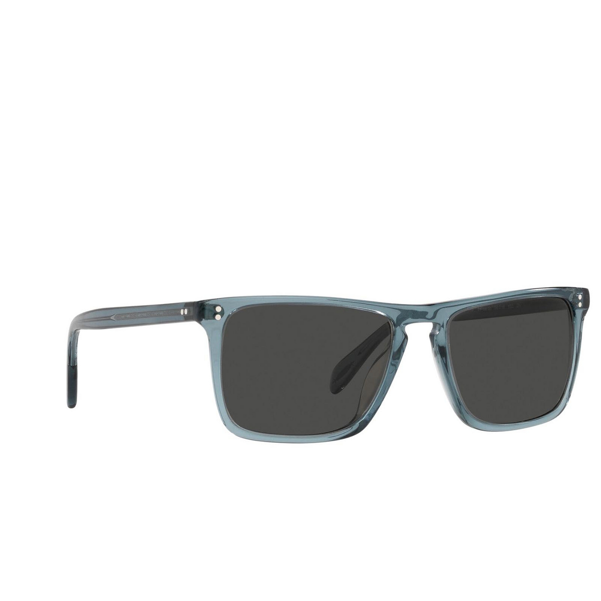 Oliver Peoples® Square Sunglasses: Bernardo OV5189S color Washed Teal 1617R5 - three-quarters view.