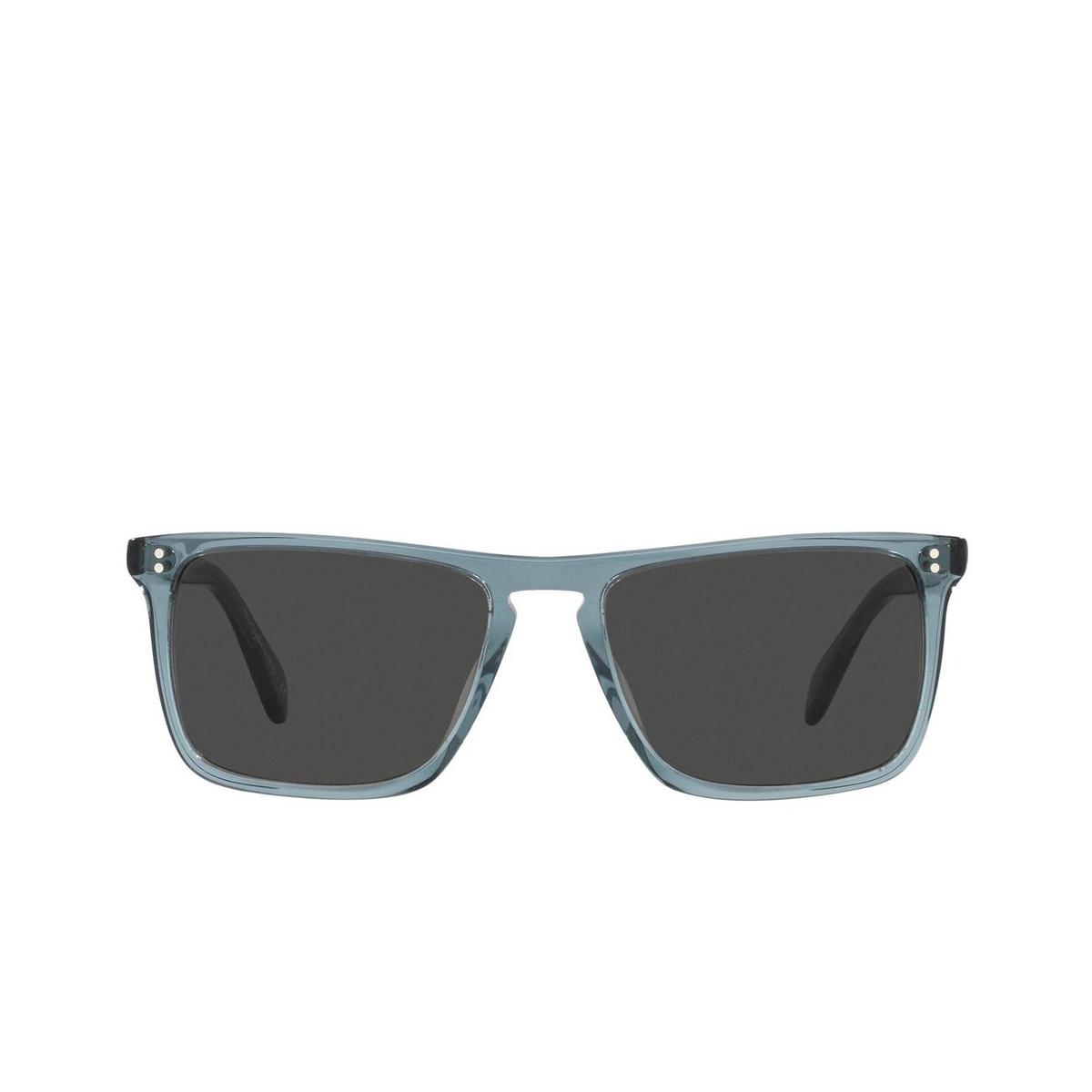 Oliver Peoples® Square Sunglasses: Bernardo OV5189S color Washed Teal 1617R5 - front view.