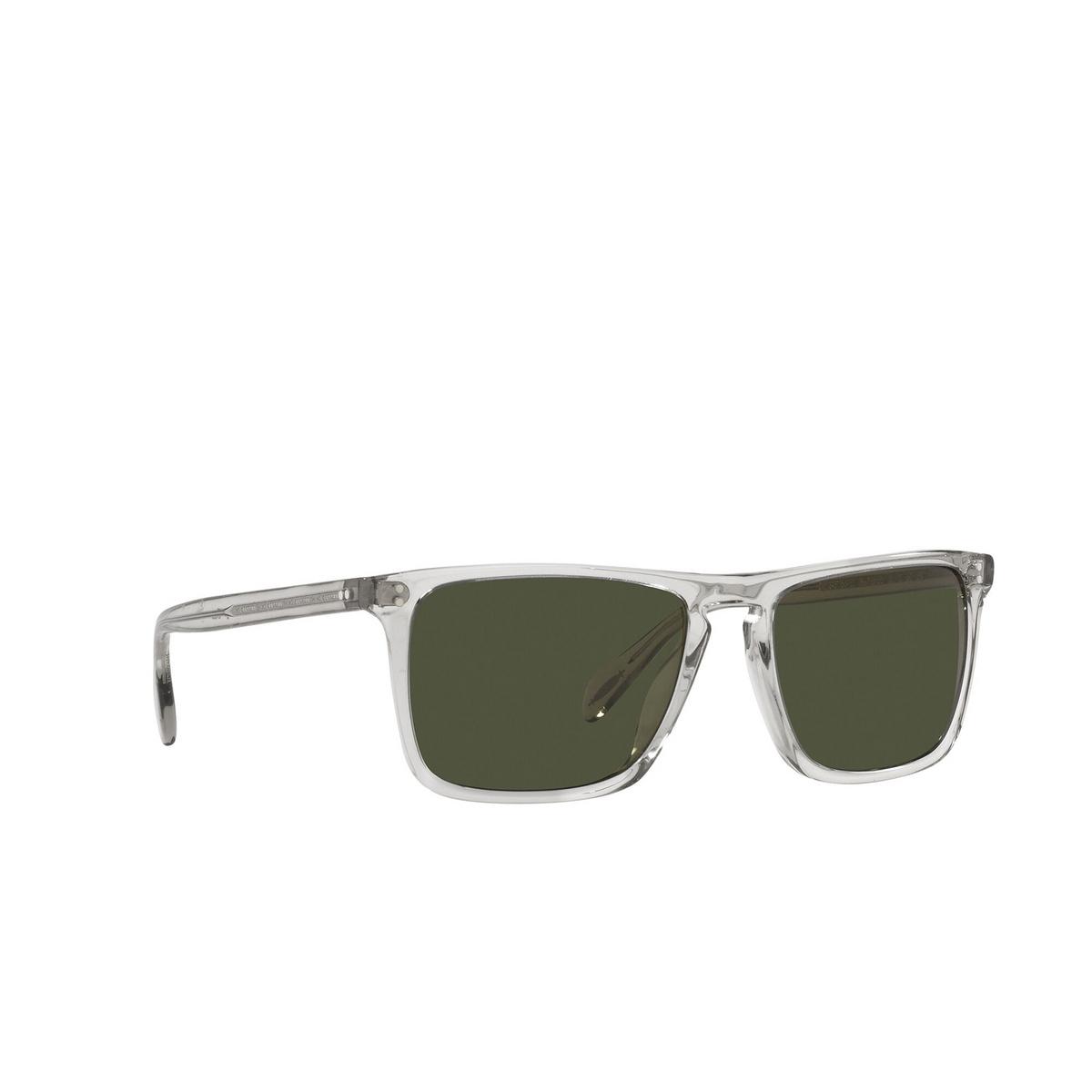 Oliver Peoples® Square Sunglasses: Bernardo OV5189S color Black Diamond 166952 - three-quarters view.
