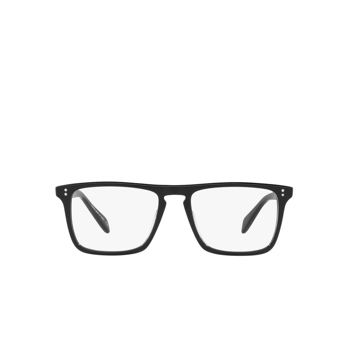 Oliver Peoples® Square Eyeglasses: Bernardo-r OV5189U color Black 1005 - front view.