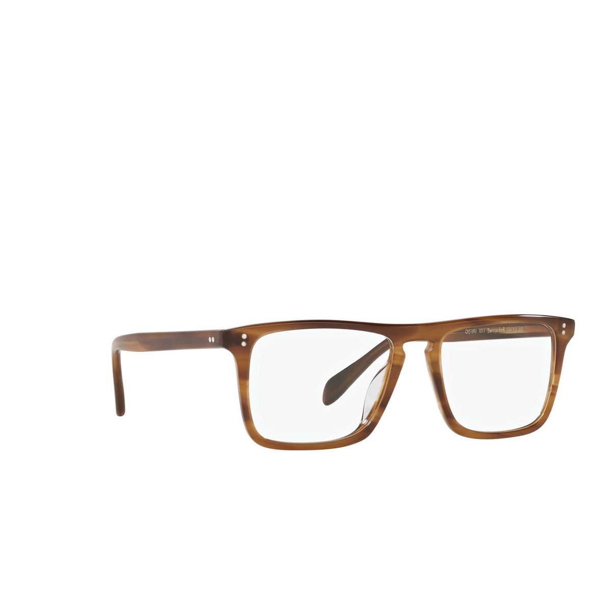 Oliver Peoples® Square Eyeglasses: Bernardo-r OV5189U color Raintree 1011 - three-quarters view.