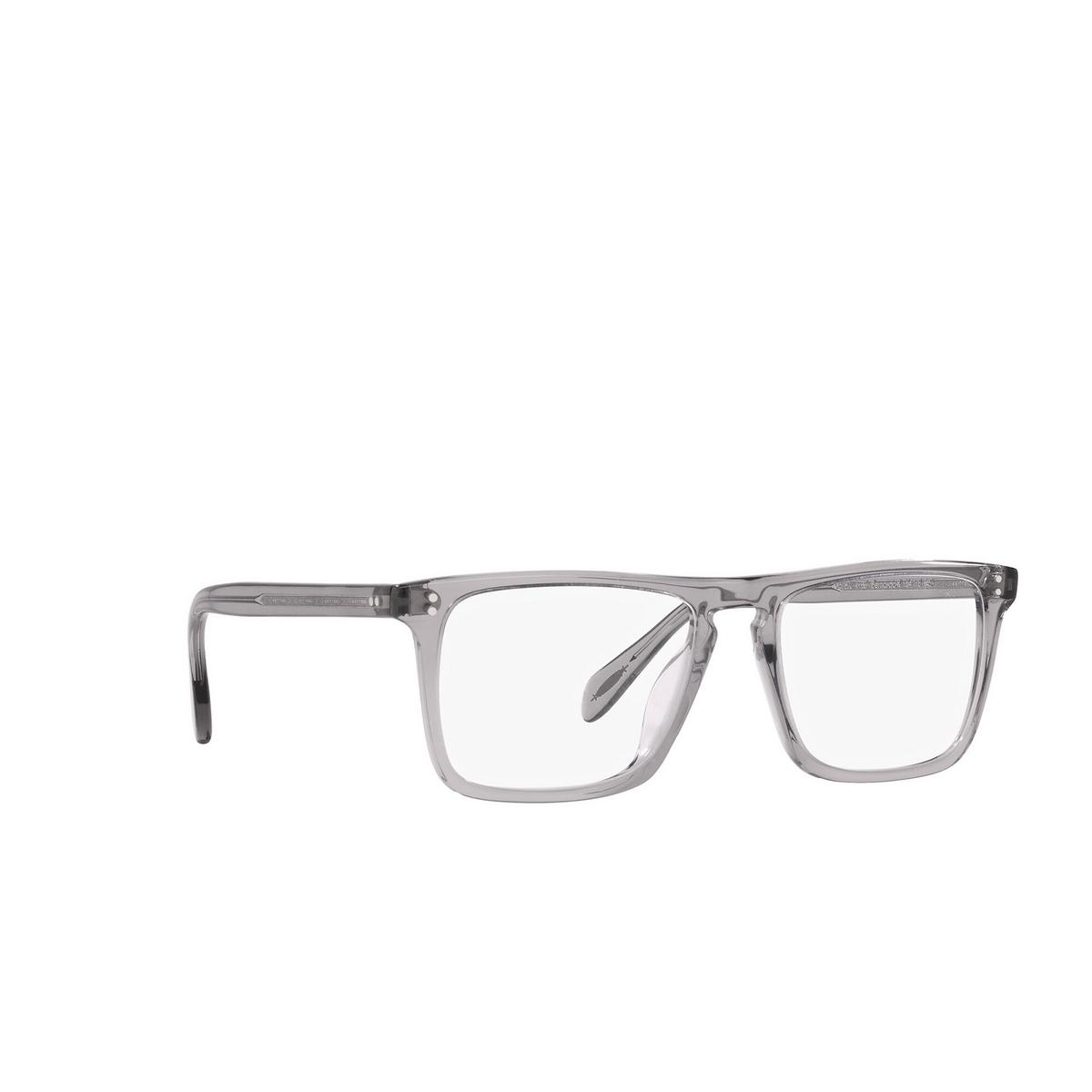 Oliver Peoples® Square Eyeglasses: Bernardo-r OV5189U color Workman Grey 1132 - three-quarters view.