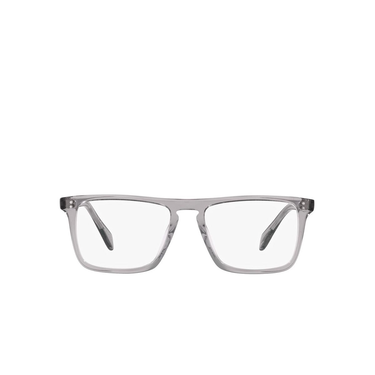 Oliver Peoples® Square Eyeglasses: Bernardo-r OV5189U color Workman Grey 1132 - front view.