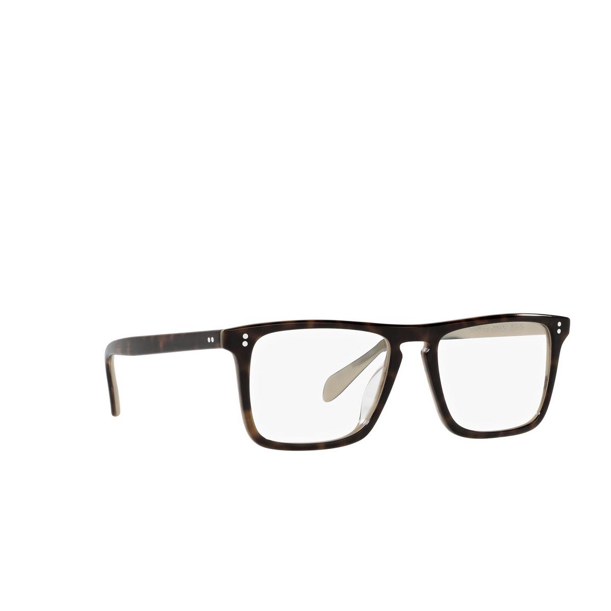 Oliver Peoples® Square Eyeglasses: Bernardo-r OV5189U color 362 / Horn 1666 - three-quarters view.