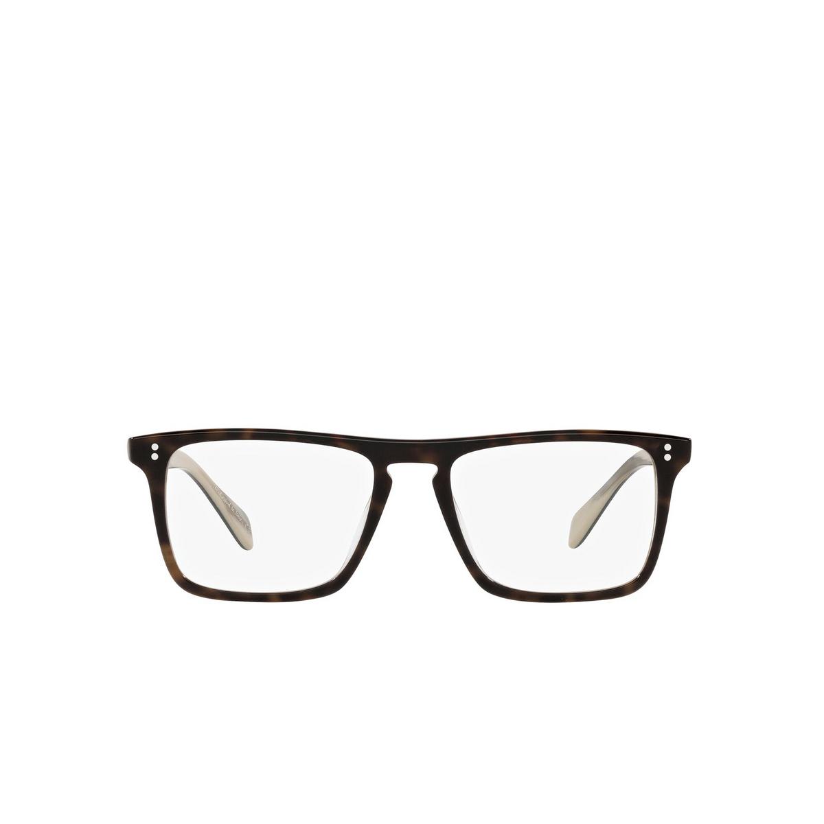 Oliver Peoples® Square Eyeglasses: Bernardo-r OV5189U color 362 / Horn 1666 - front view.