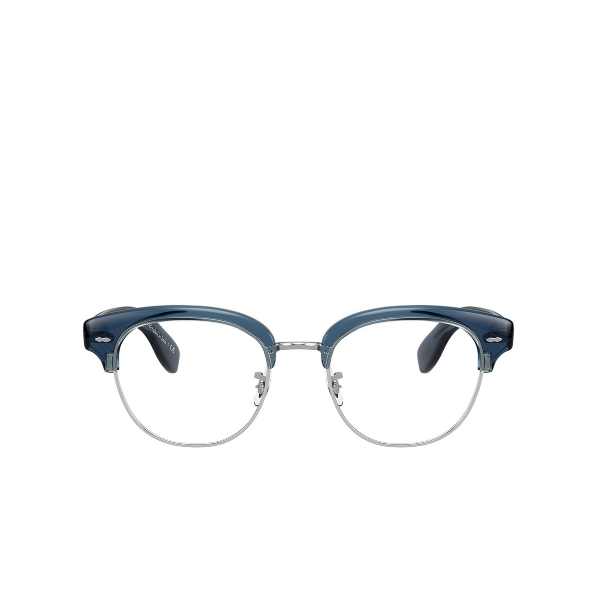 Oliver Peoples® Square Eyeglasses: Cary Grant 2 OV5436 color Deep Blue 1670 - front view.