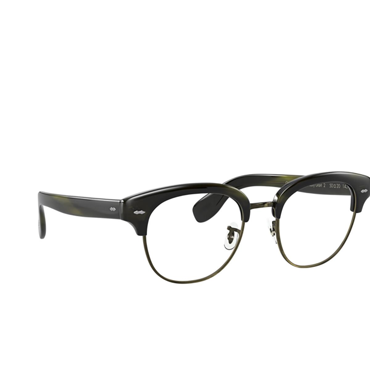 Oliver Peoples® Square Eyeglasses: Cary Grant 2 OV5436 color Emerald Bark 1680.