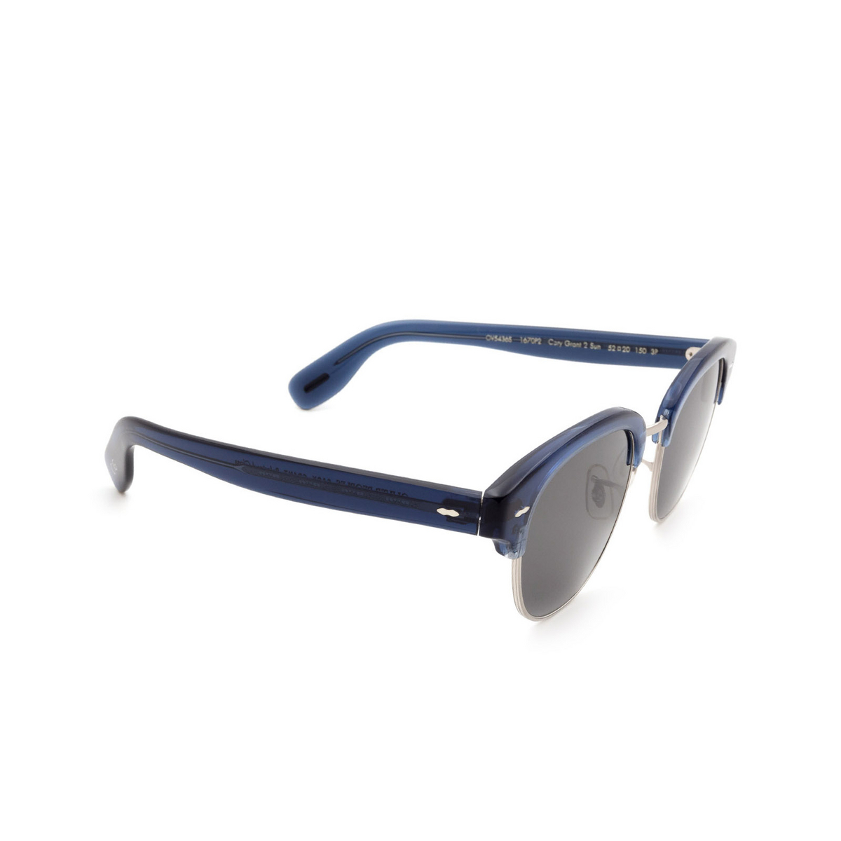 Oliver Peoples® Square Sunglasses: Cary Grant 2 Sun OV5436S color Deep Blue 1670P2.
