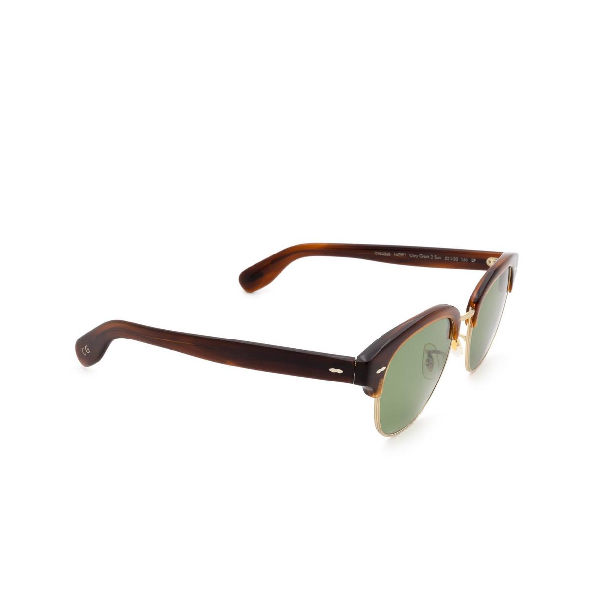 Oliver Peoples® Square Sunglasses: Cary Grant 2 Sun OV5436S color Grant Tortoise 1679P1.