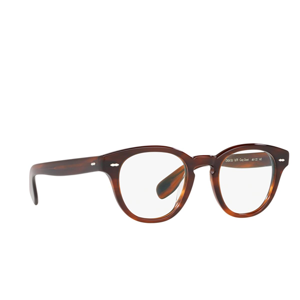Oliver Peoples® Round Eyeglasses: Cary Grant OV5413U color Grant Tortoise 1679 - three-quarters view.