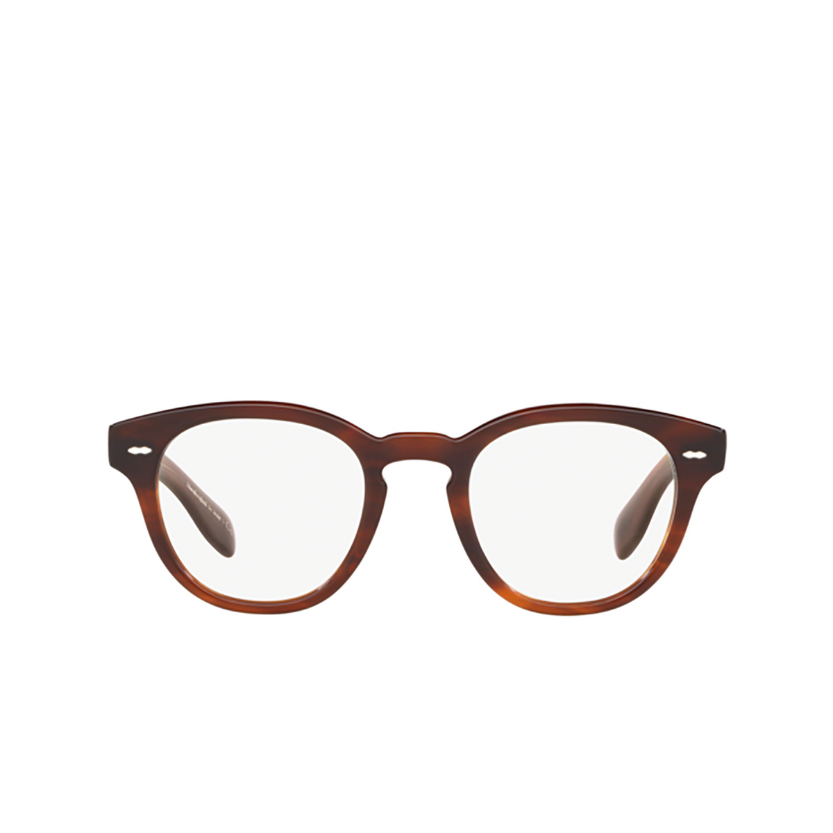 Oliver Peoples® Round Eyeglasses: Cary Grant OV5413U color Grant Tortoise 1679 - front view.