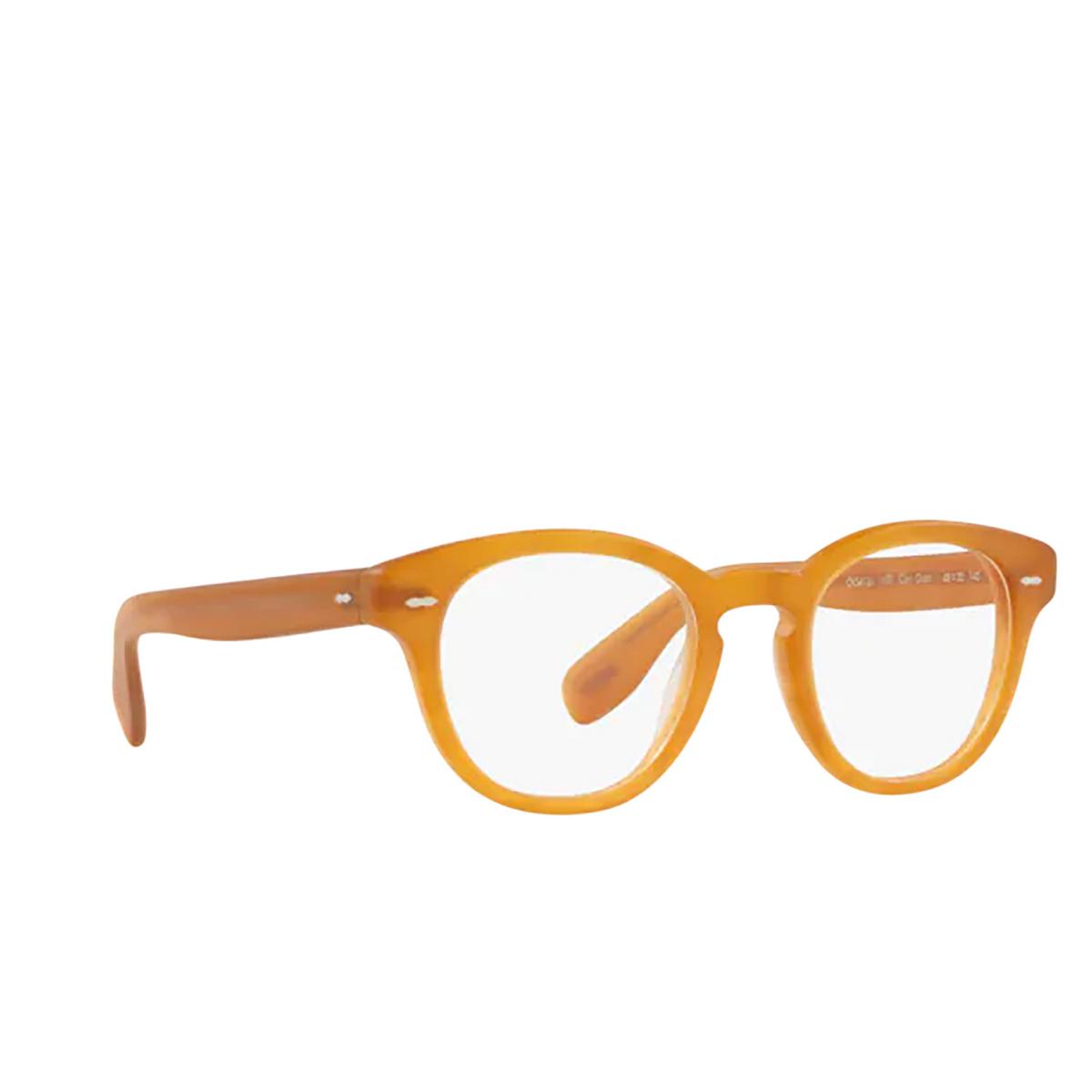Oliver Peoples® Round Eyeglasses: Cary Grant OV5413U color Semi Matte Amber Tortoise 1699 - three-quarters view.