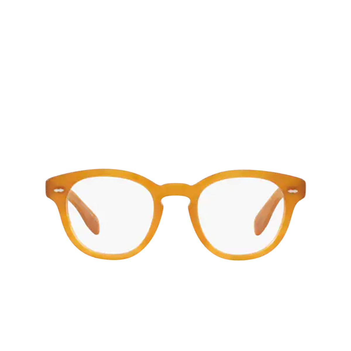 Oliver Peoples® Round Eyeglasses: Cary Grant OV5413U color Semi Matte Amber Tortoise 1699 - front view.