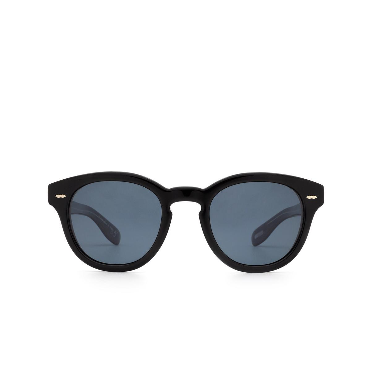 Oliver Peoples® Round Sunglasses: Cary Grant Sun OV5413SU color Black 14923R.