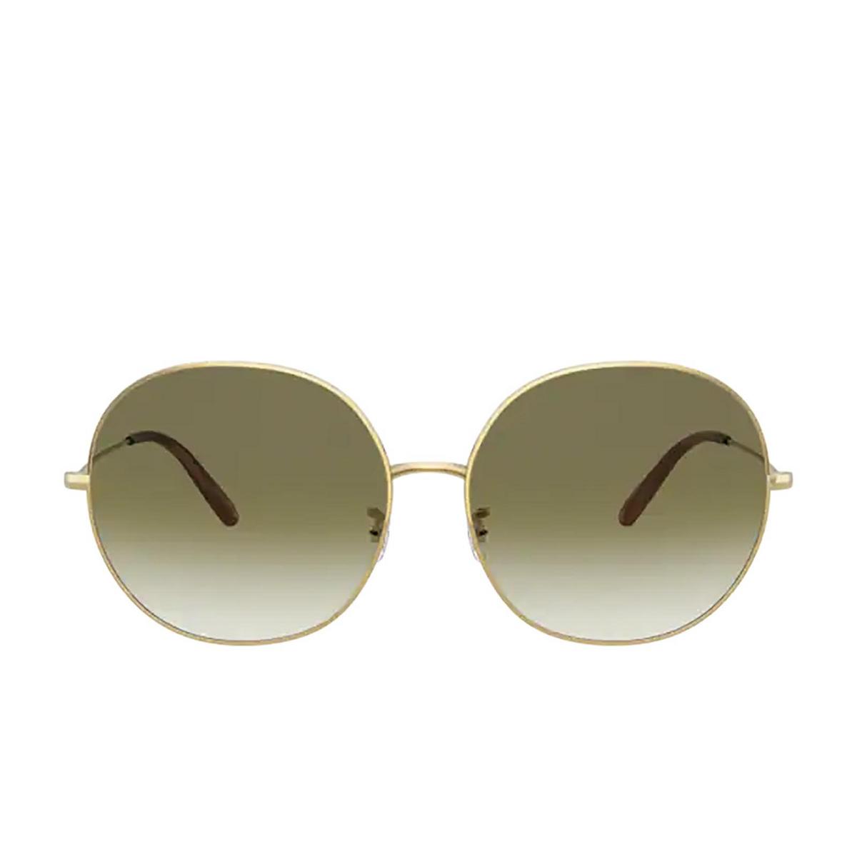 Oliver Peoples® Round Sunglasses: Darlen OV1280S color Gold 50358E.
