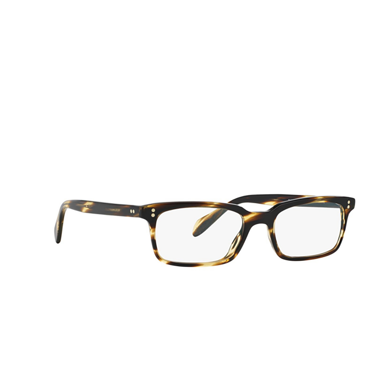 Oliver Peoples® Rectangle Eyeglasses: Denison OV5102 color Cocobolo 1003 - three-quarters view.