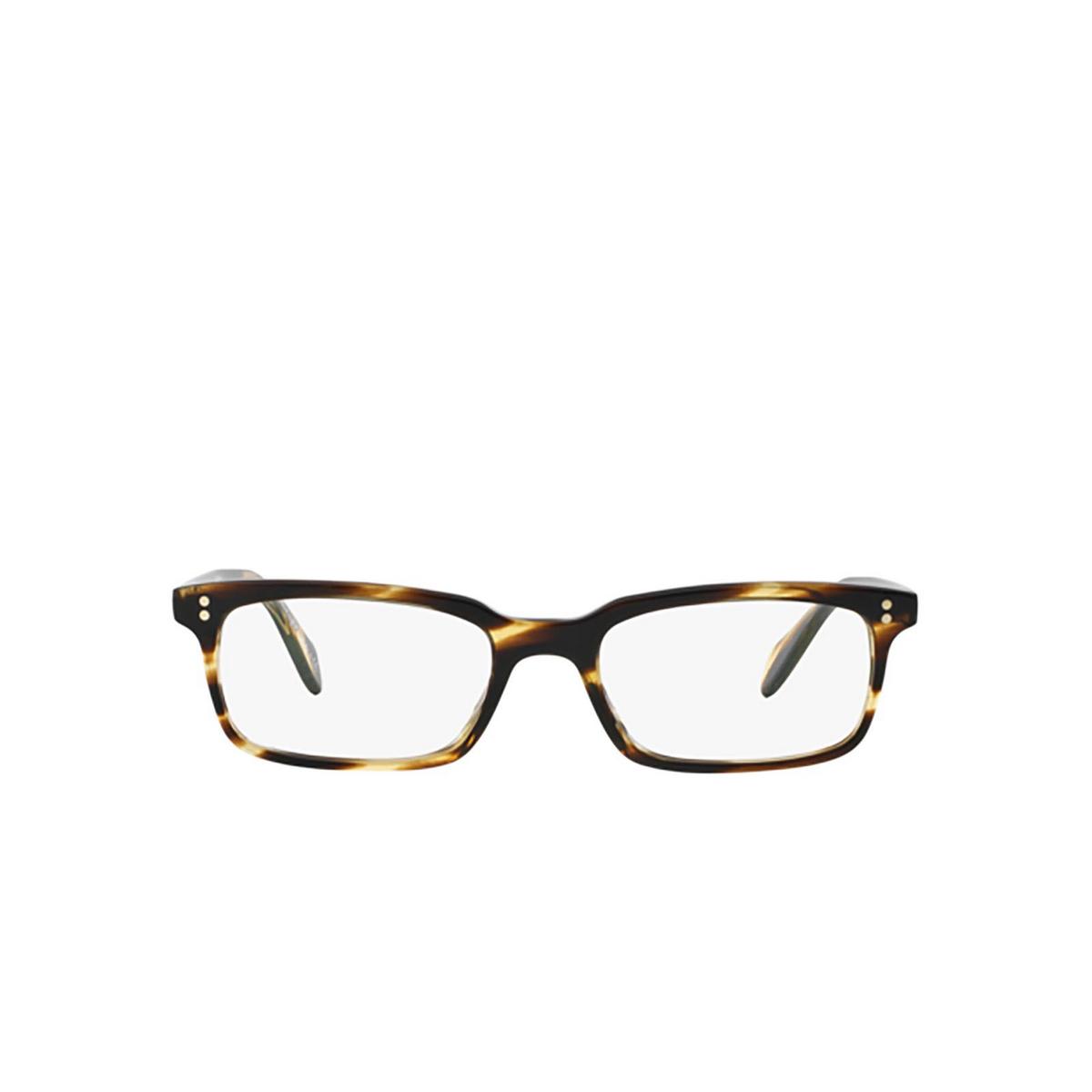 Oliver Peoples® Rectangle Eyeglasses: Denison OV5102 color Cocobolo 1003 - front view.