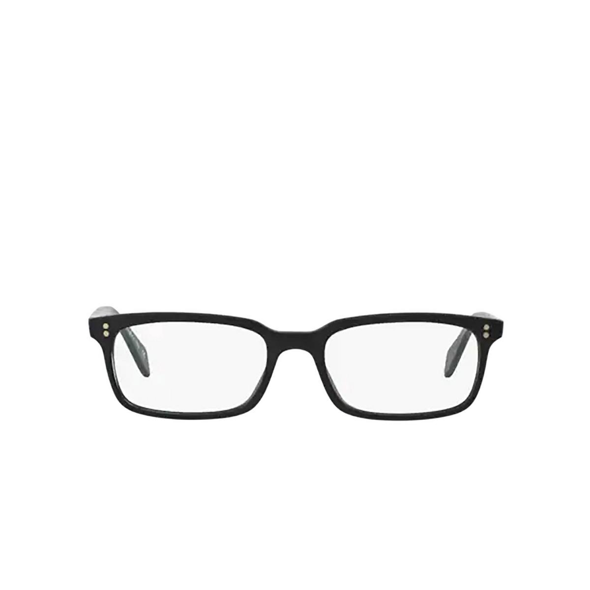 Oliver Peoples® Rectangle Eyeglasses: Denison OV5102 color Matte Black 1031 - front view.