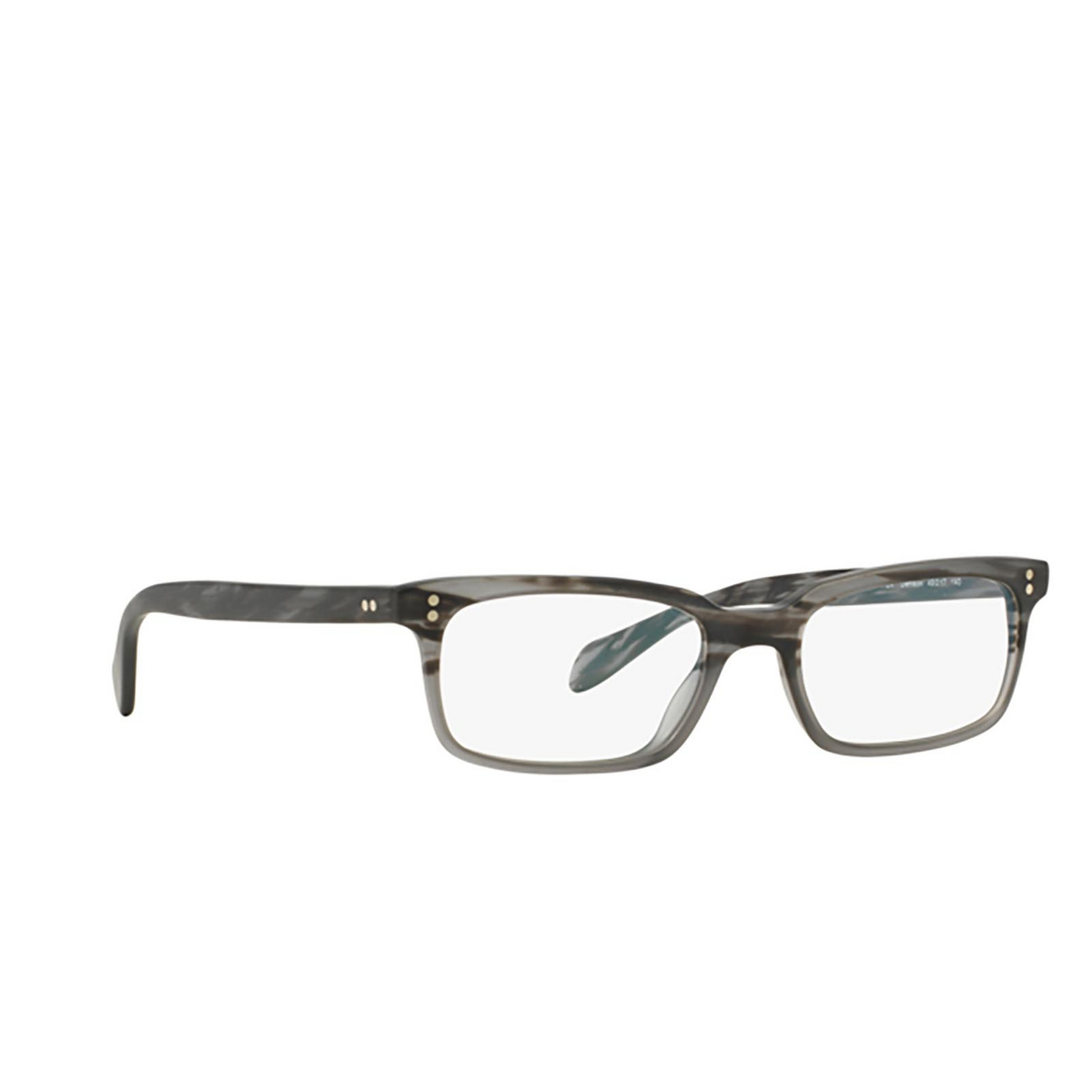 Oliver Peoples® Rectangle Eyeglasses: Denison OV5102 color Matte Storm 1124 - three-quarters view.