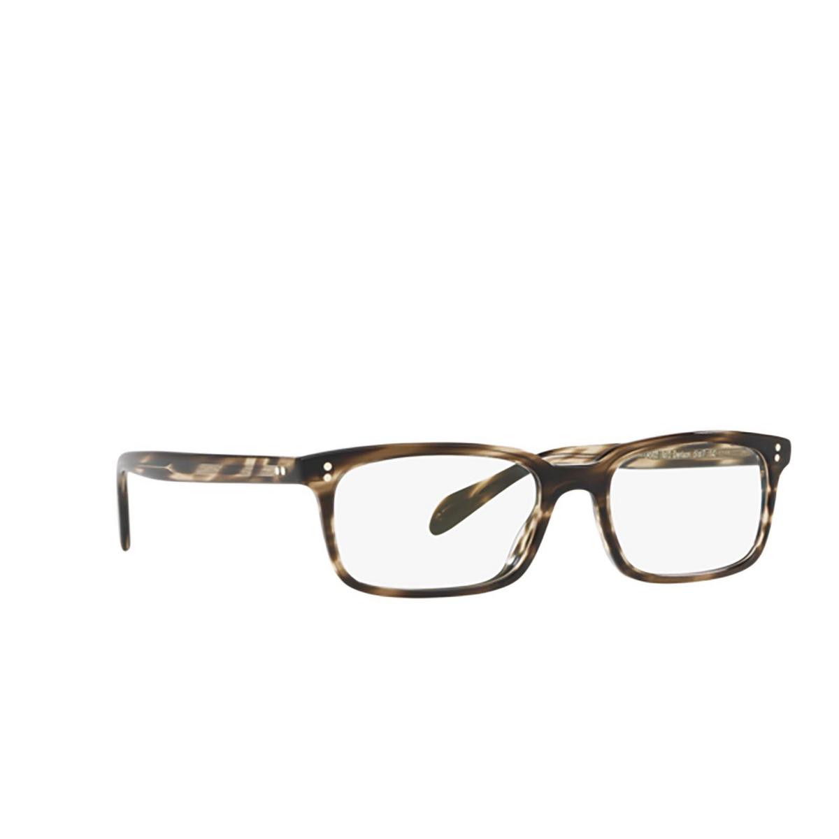 Oliver Peoples® Rectangle Eyeglasses: Denison OV5102 color Cinder Cocobolo 1612 - three-quarters view.