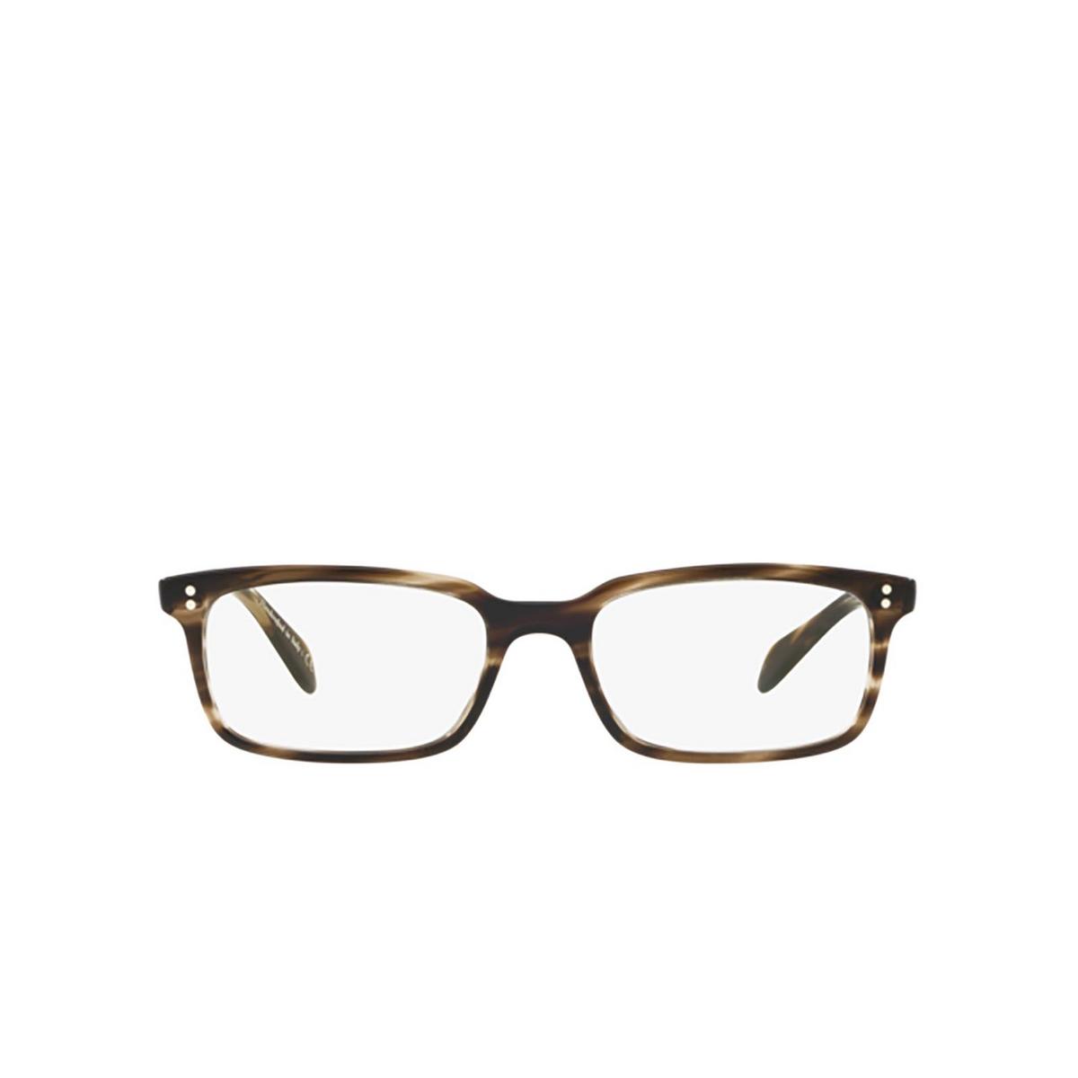 Oliver Peoples® Rectangle Eyeglasses: Denison OV5102 color Cinder Cocobolo 1612 - front view.