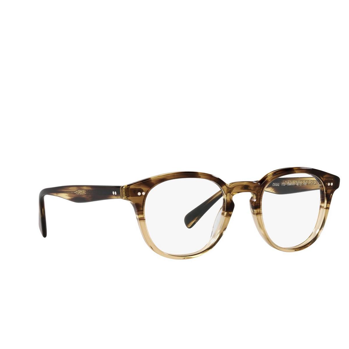 Oliver Peoples® Square Eyeglasses: Desmon OV5454U color Canarywood Gradient 1703 - three-quarters view.