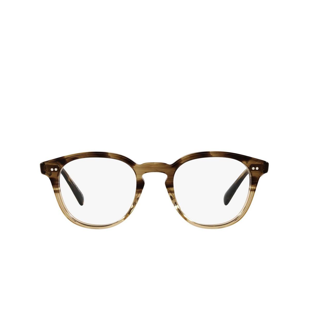 Oliver Peoples® Square Eyeglasses: Desmon OV5454U color Canarywood Gradient 1703 - front view.