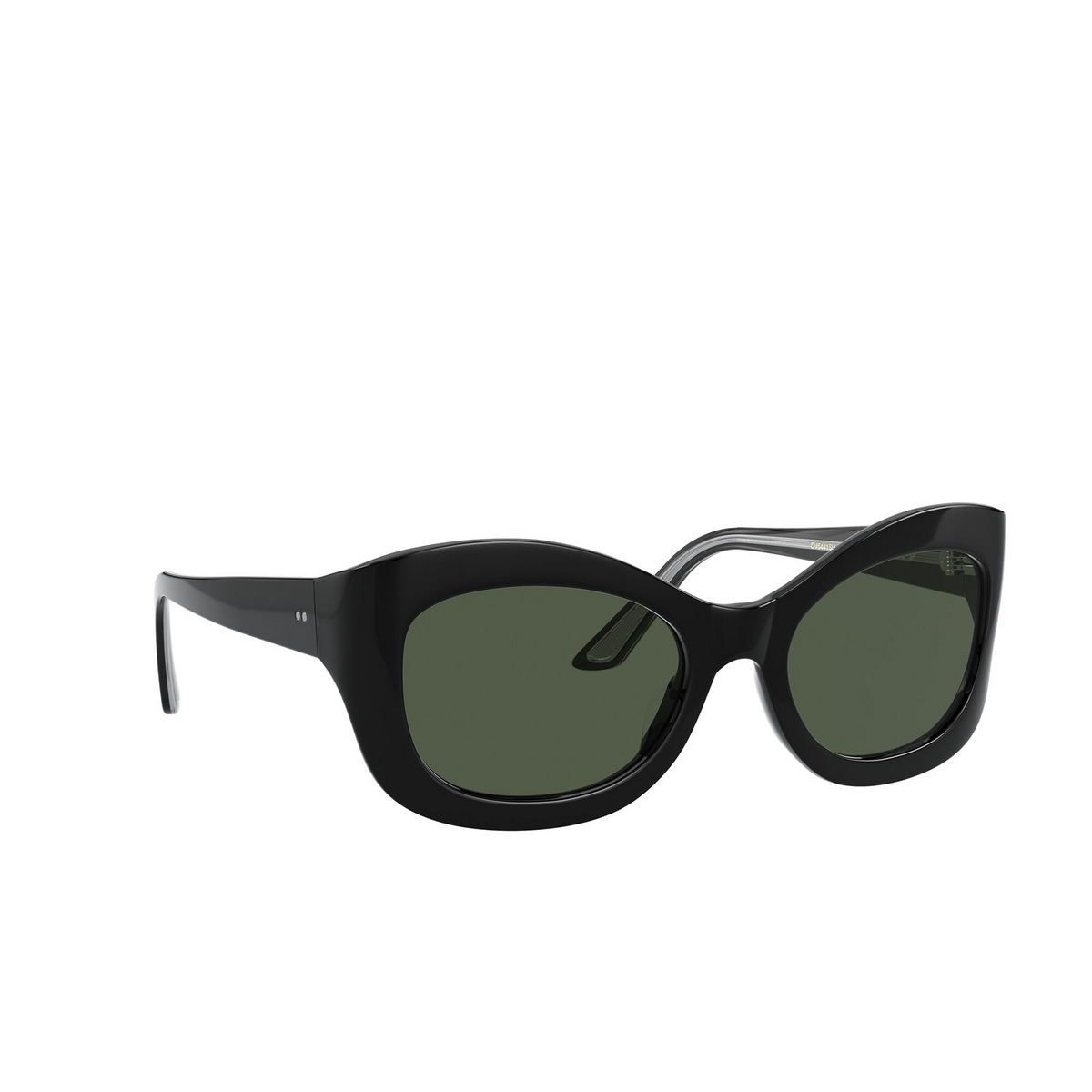 Oliver Peoples® Butterfly Sunglasses: Edina OV5441SU color Black 10059A - three-quarters view.