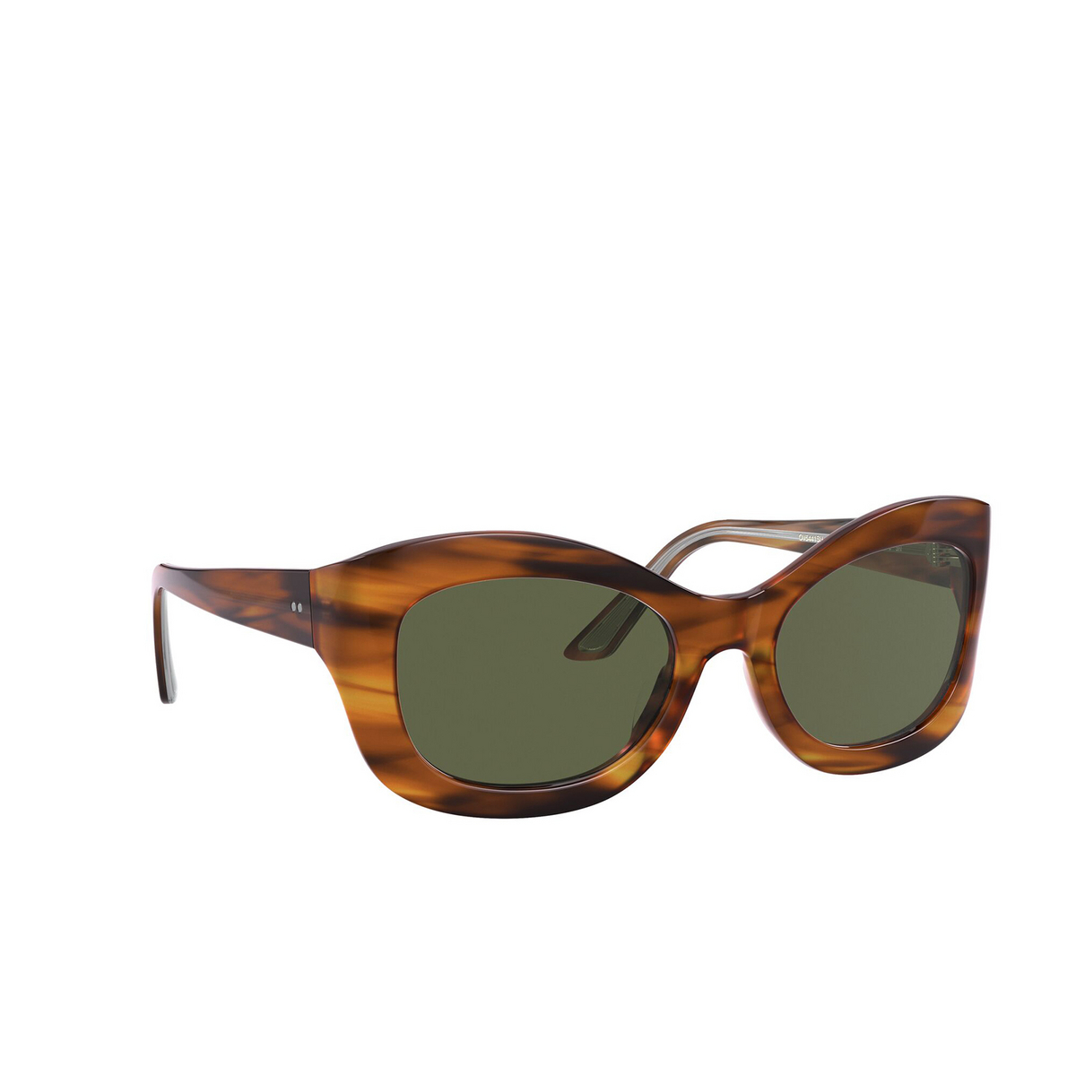 Oliver Peoples® Butterfly Sunglasses: Edina OV5441SU color Raintree 101171 - three-quarters view.