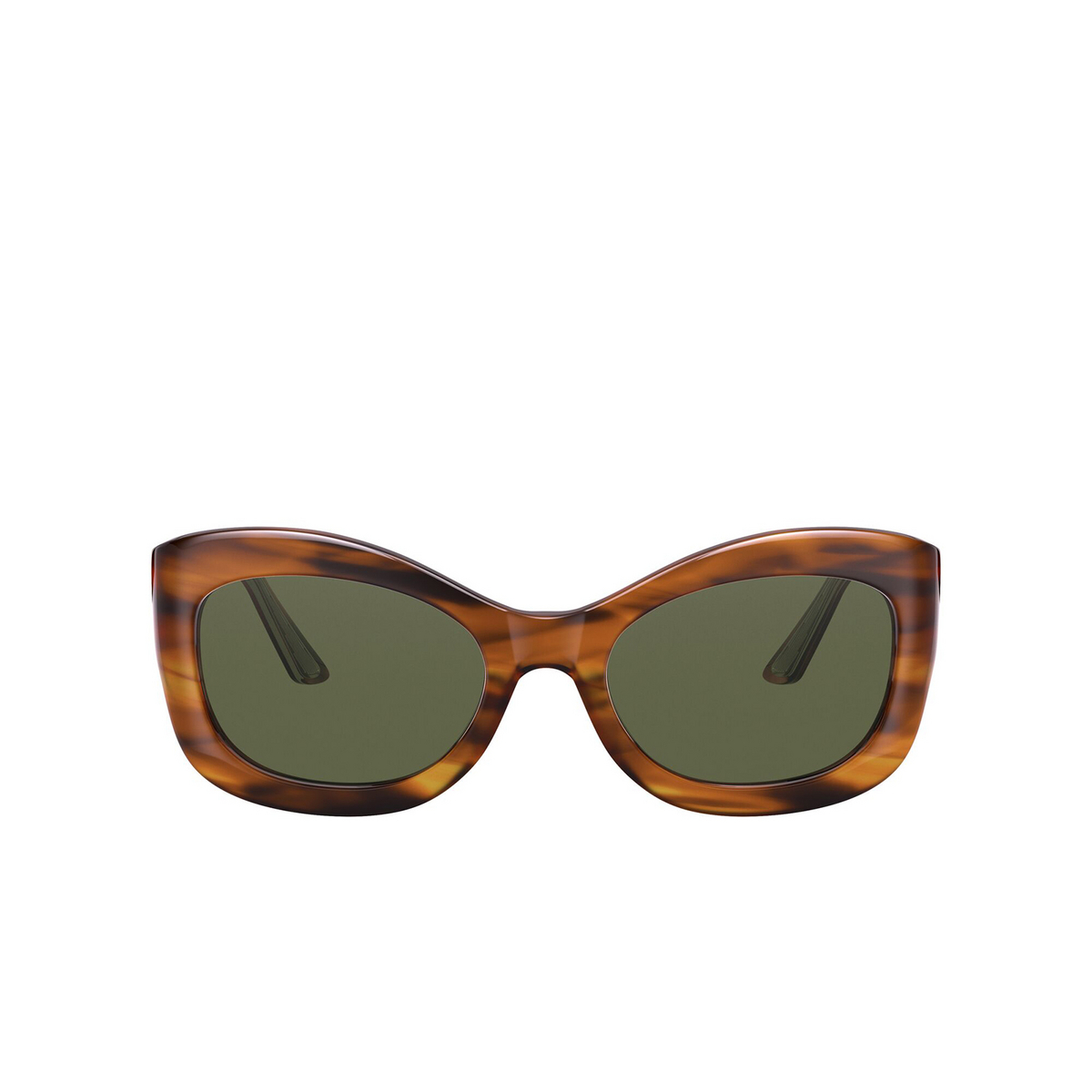 Oliver Peoples® Butterfly Sunglasses: Edina OV5441SU color Raintree 101171 - front view.