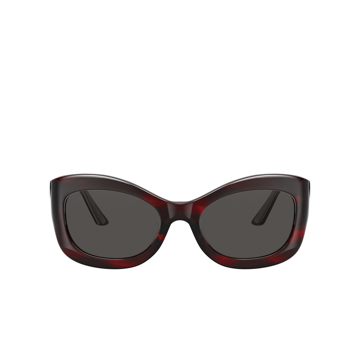 Oliver Peoples® Butterfly Sunglasses: Edina OV5441SU color Bordeaux Bark 167587 - front view.